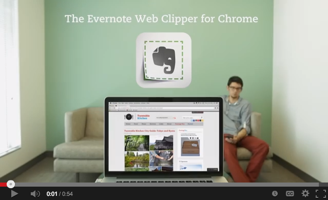 The Evernote Web Clipper for Chrome
